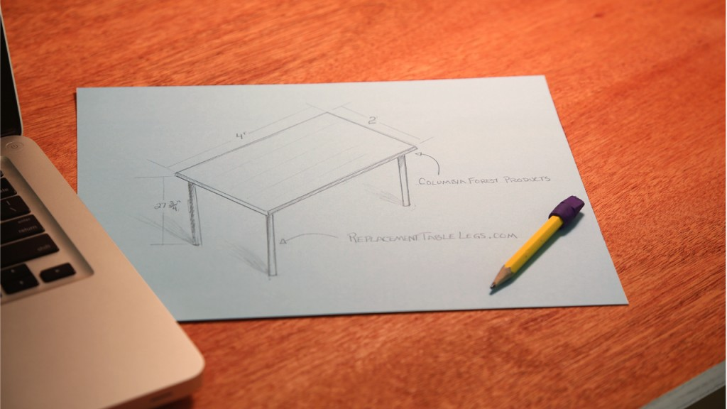 how to build a table desk