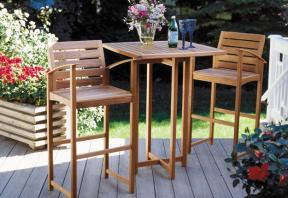 Diy patio furniture ideas diy patio furniture bar height table and chairs watchthetrailerfo
