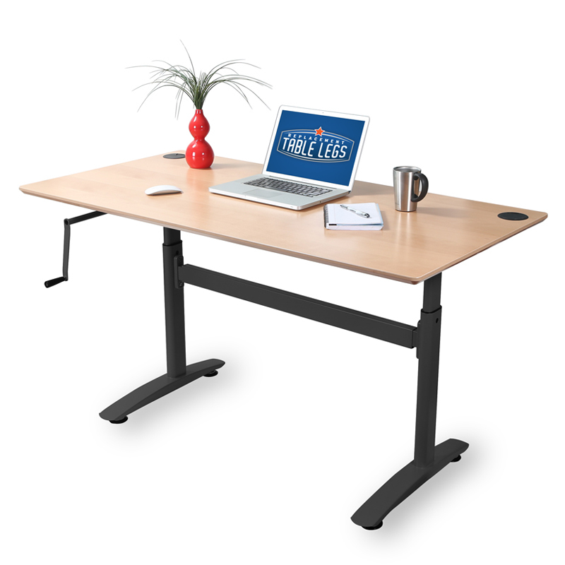 the top 5 reasons to love a hand cranked adjustable height desk. Black Bedroom Furniture Sets. Home Design Ideas