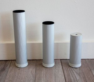 3 sizes of Como Furniture Height Table Legs